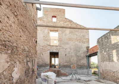 esvibar arquitectos patio alqueria rehabilitación restauración proyecto